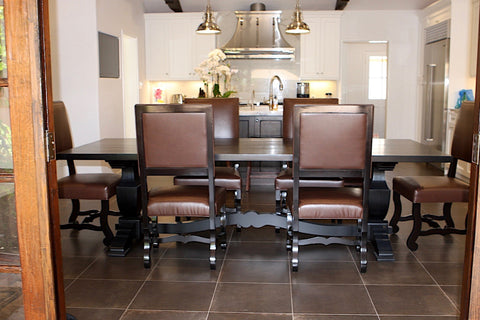 Mallorca Classic Dining Room Table and Upholstered Chairs