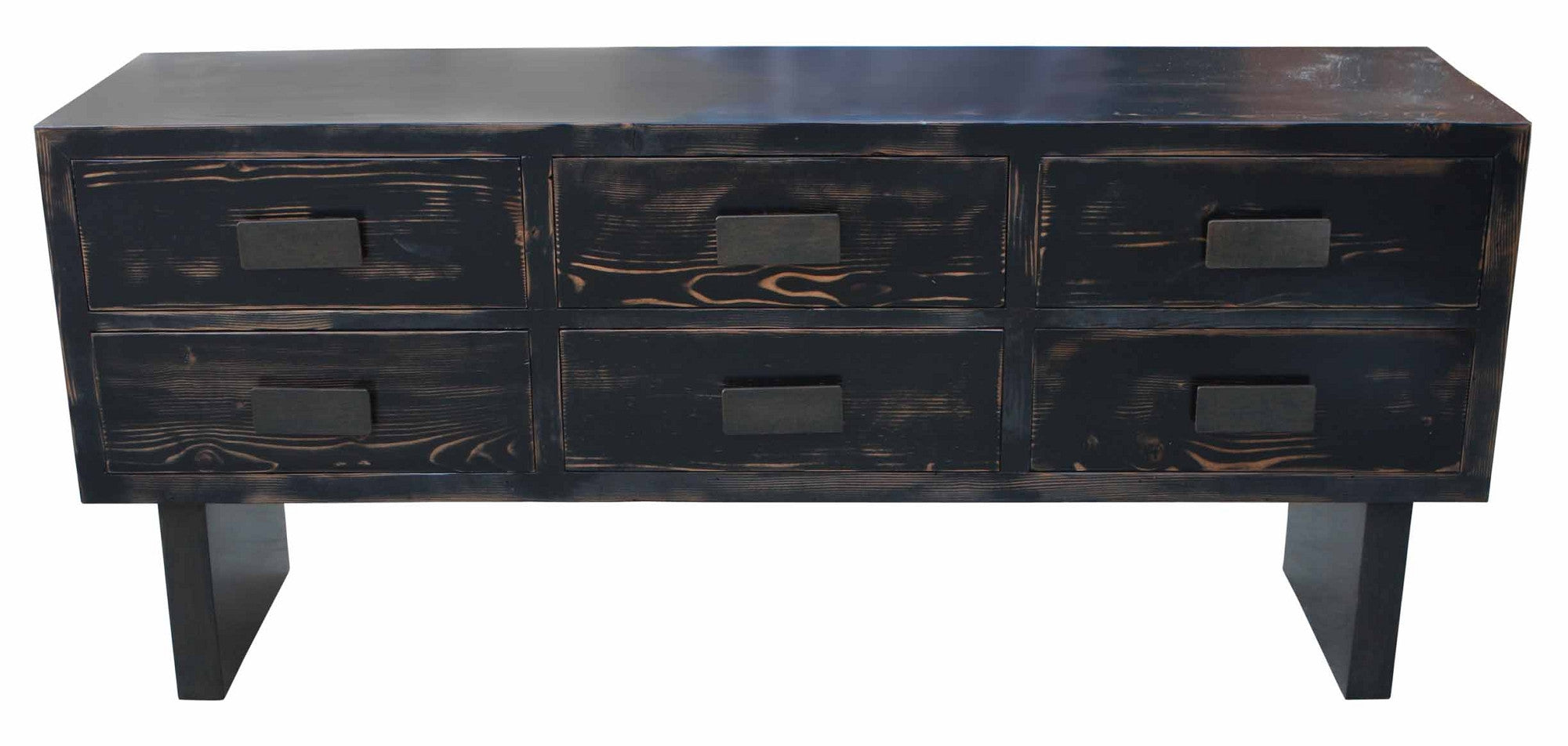 Black Sundance Six Drawer Dresser