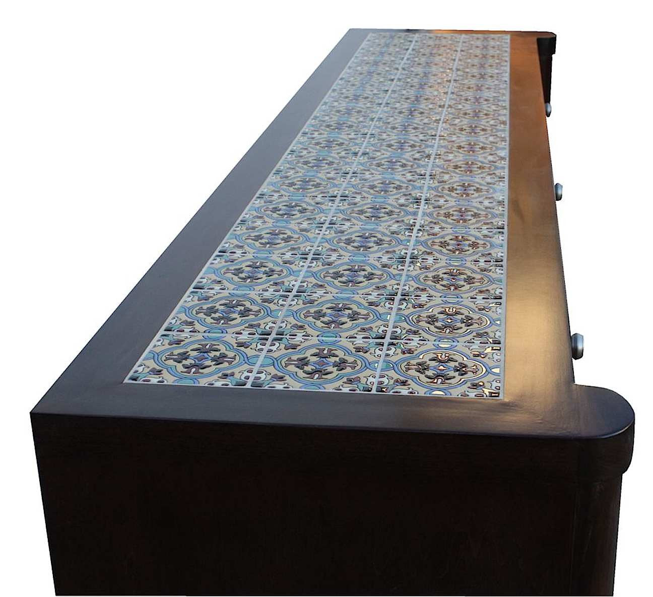 Custom Tile Top Spanish Modern Dining Room Buffet