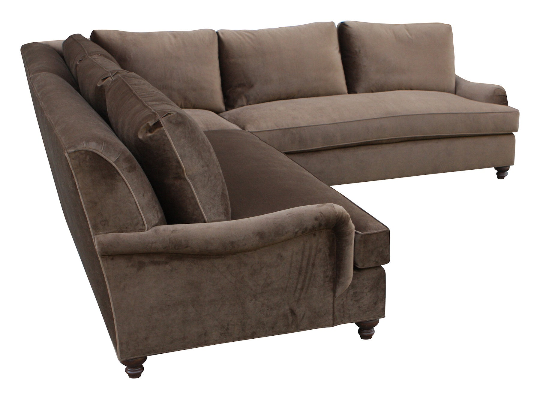 English Rolled Arm Sectional and Sofas Custom Made in Our Los