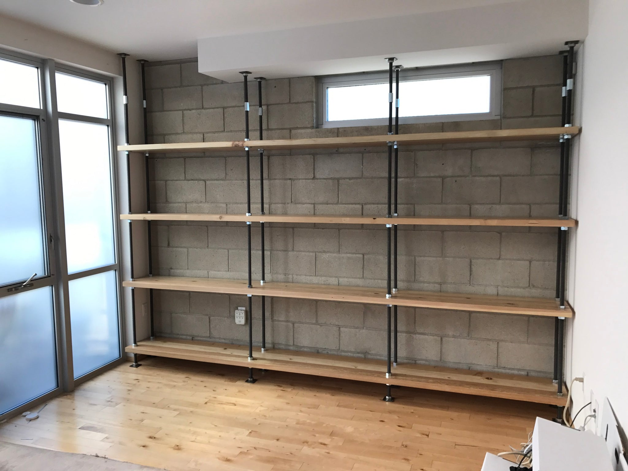 Nuts ,Bolts and Treaded Steel Rod Industrial Bookcase