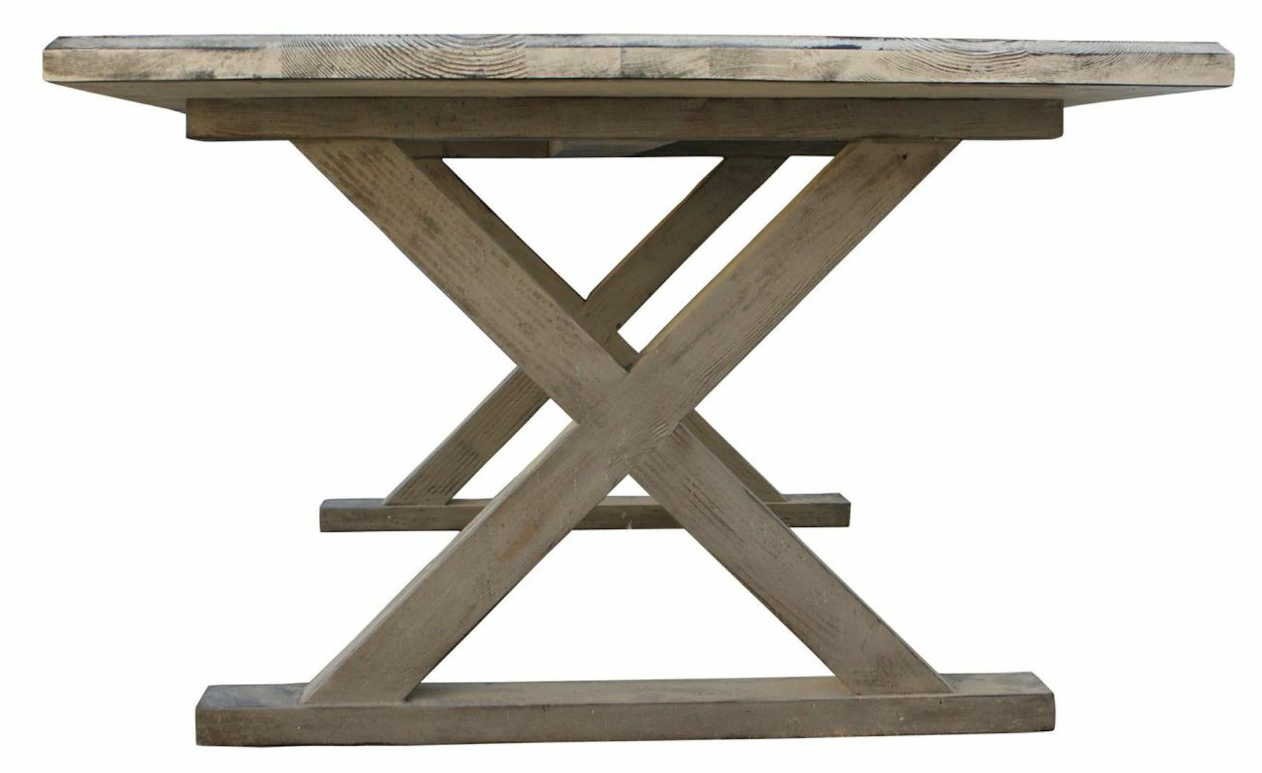 Classic Country X Base Dining Table  Mortise  Tenon - X base dining table
