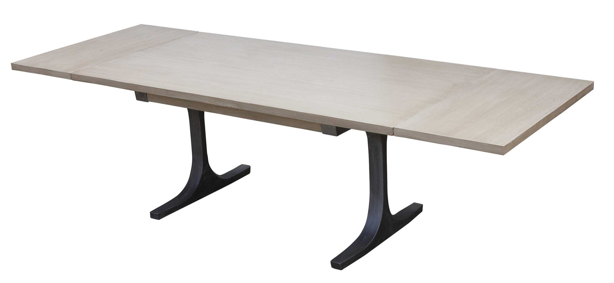 modern industrial bergen reclaimed wood dining table with extensions