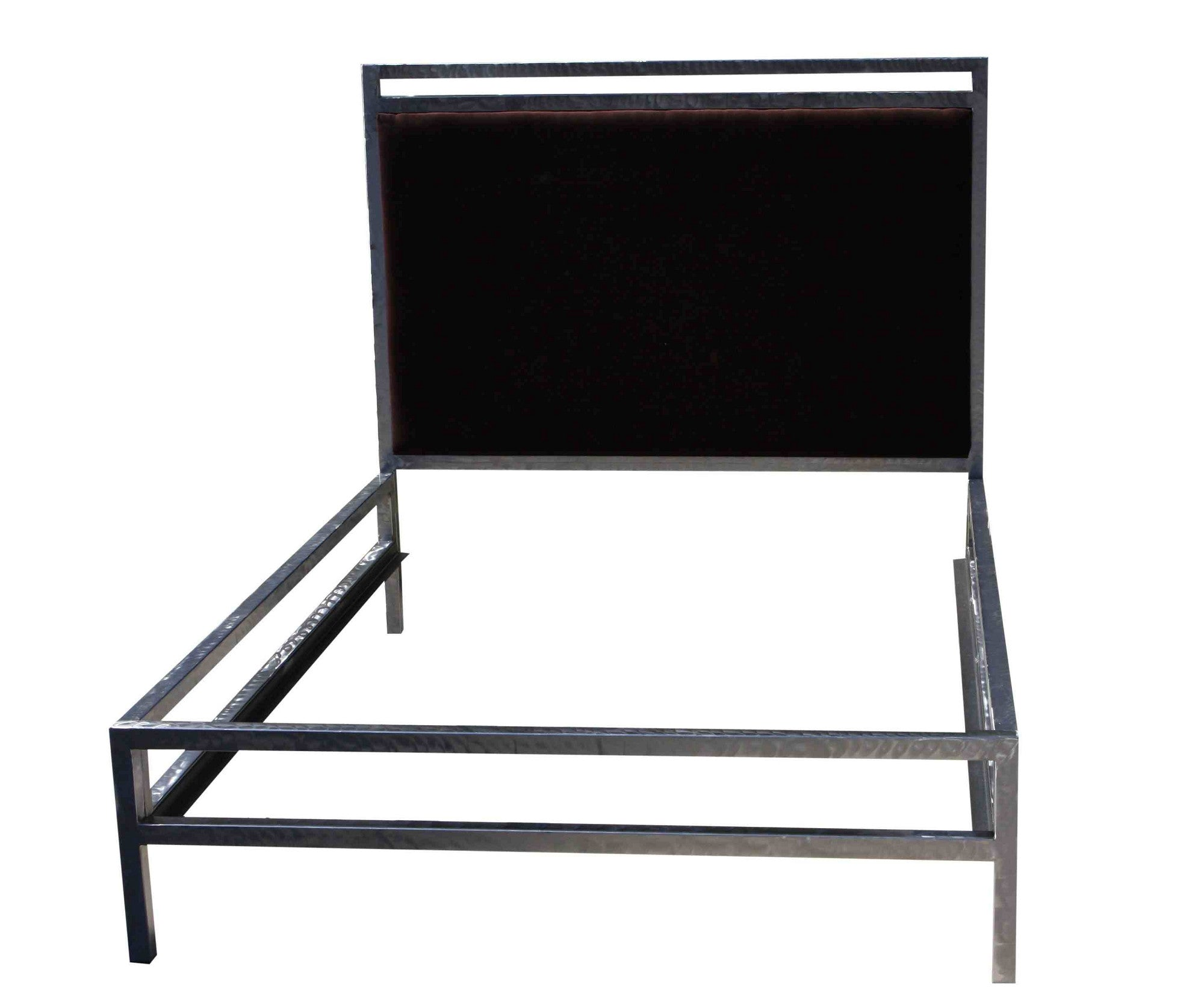 Metal and Upholstered Velvet Bed Frame