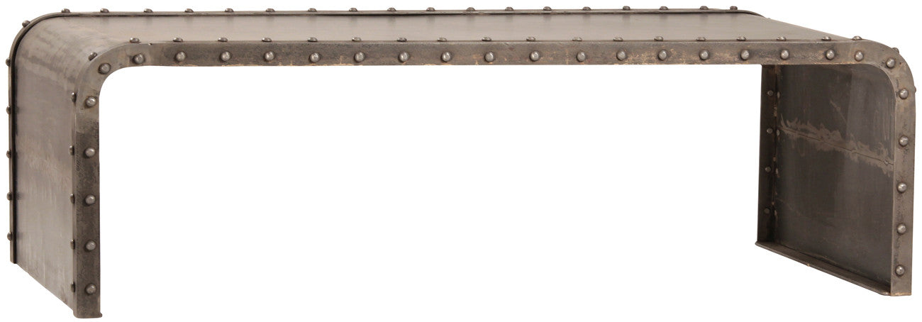 Boris, Industrial Metal Rivet Console Table