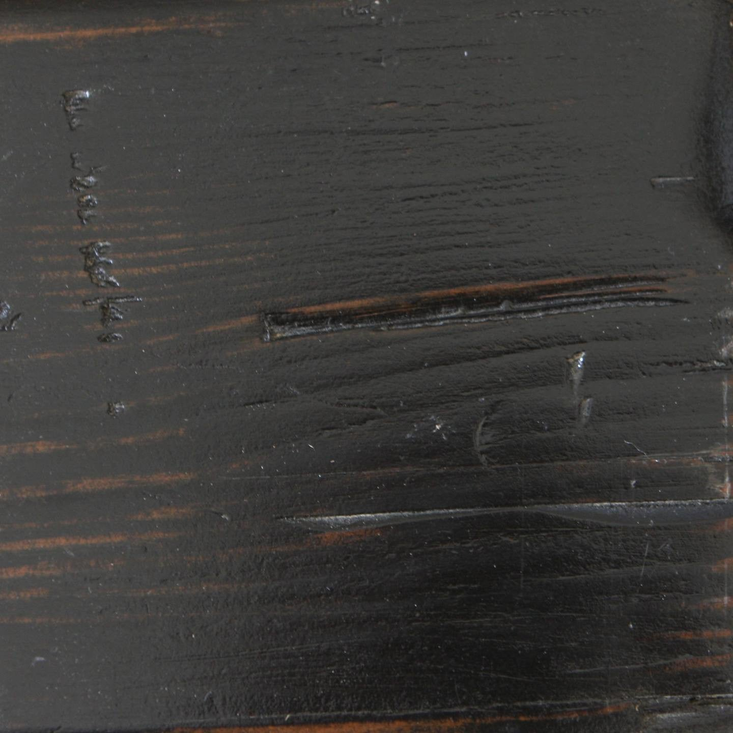 Weathered Black on Reclaimed Douglas Fir
