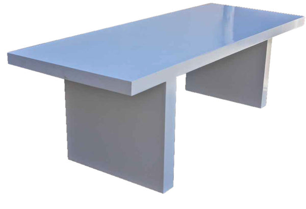 White lacquer mid century modern dining table mortise for White lacquer dining table