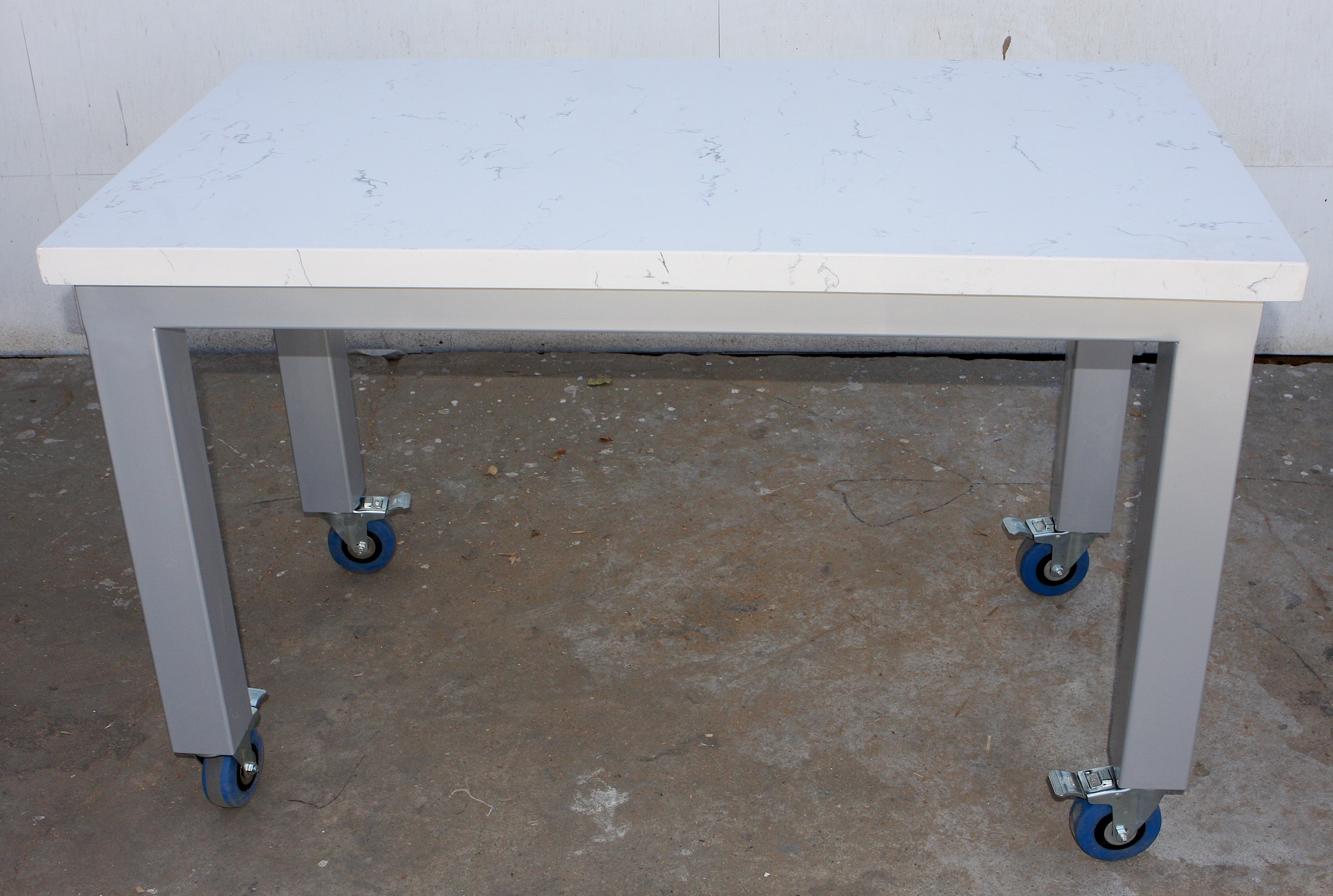 Marble Kitchen Rolling Dining Table And Bench Mortise Tenon