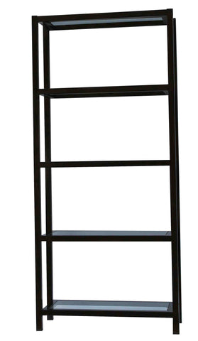 Williamsburg Metal and Glass Modern Bookcase