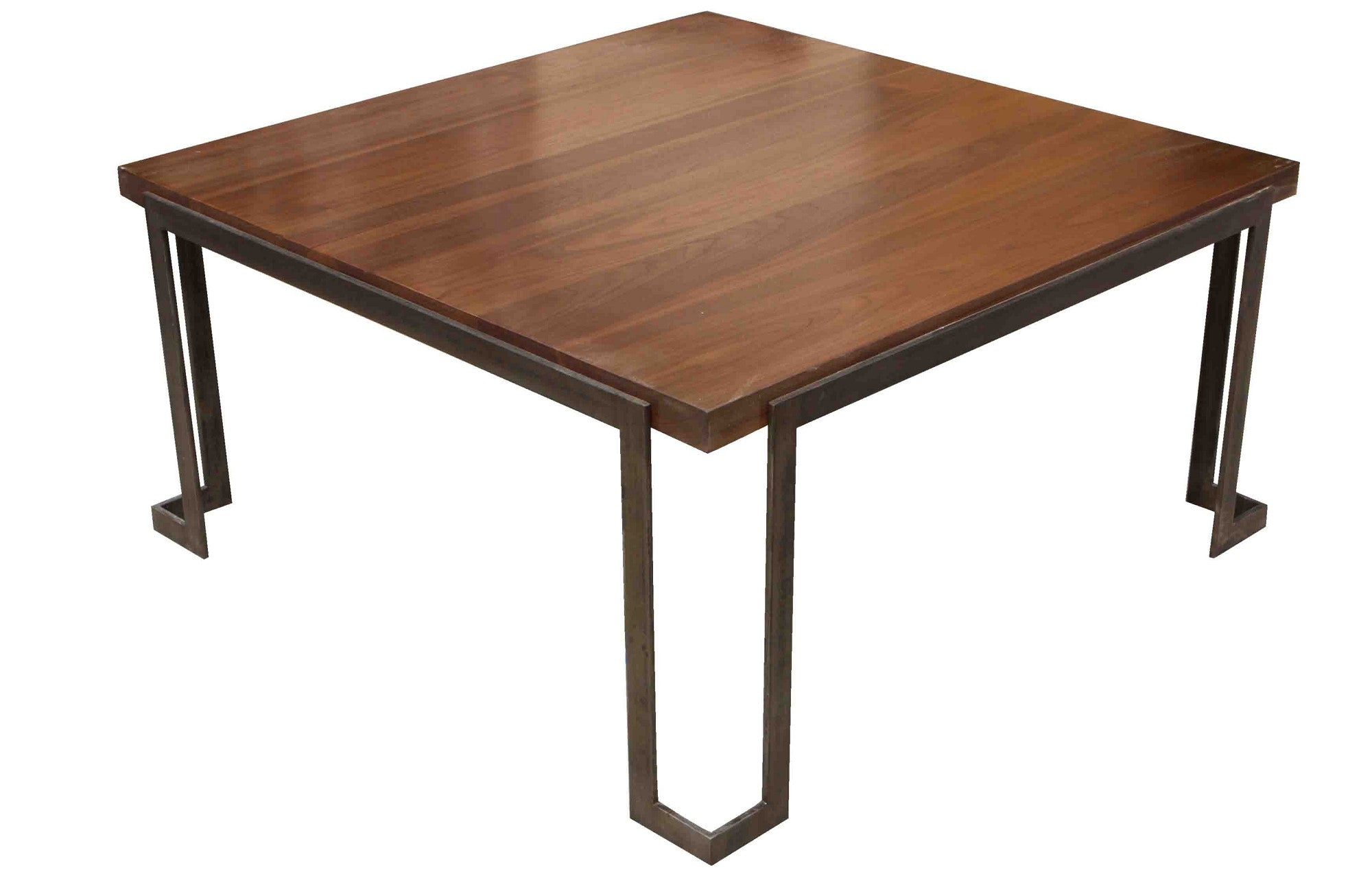 modern metal and wood coffee table – mortise & tenon