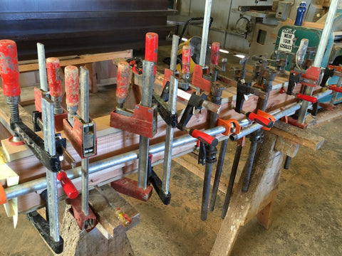 Can't Live Without Pipe Clamps in Our Wood Shop