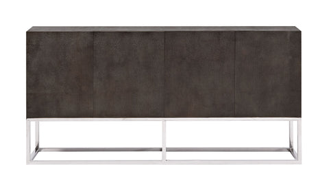 Zig, Faux Shagreen Media Console