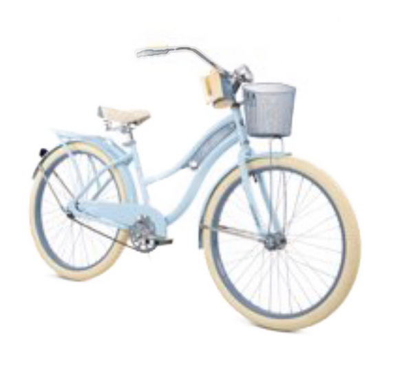 26 Inch Sky Blue Beach Cruiser