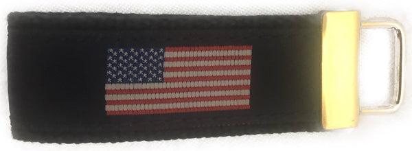 American Flag Fob on Navy
