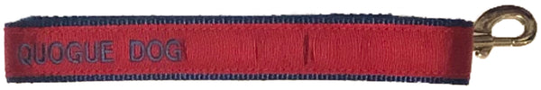 Quogue Dog Leash Red & Navy