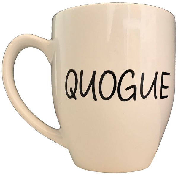 Quogue Dove Tail White Mug