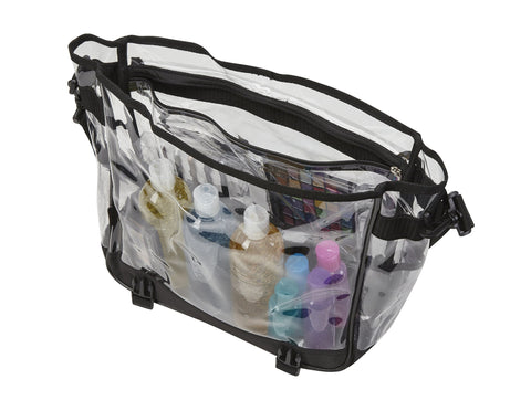 Clear PVC Makeup Artist Travel Set Bag with Strap