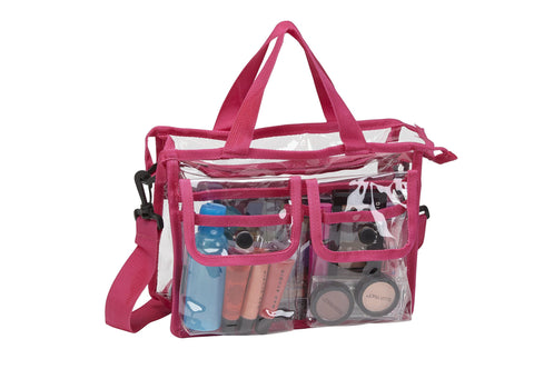 Medium Makeup Artist Clear PVC Set Bag w/ Removable Shoulder Strap