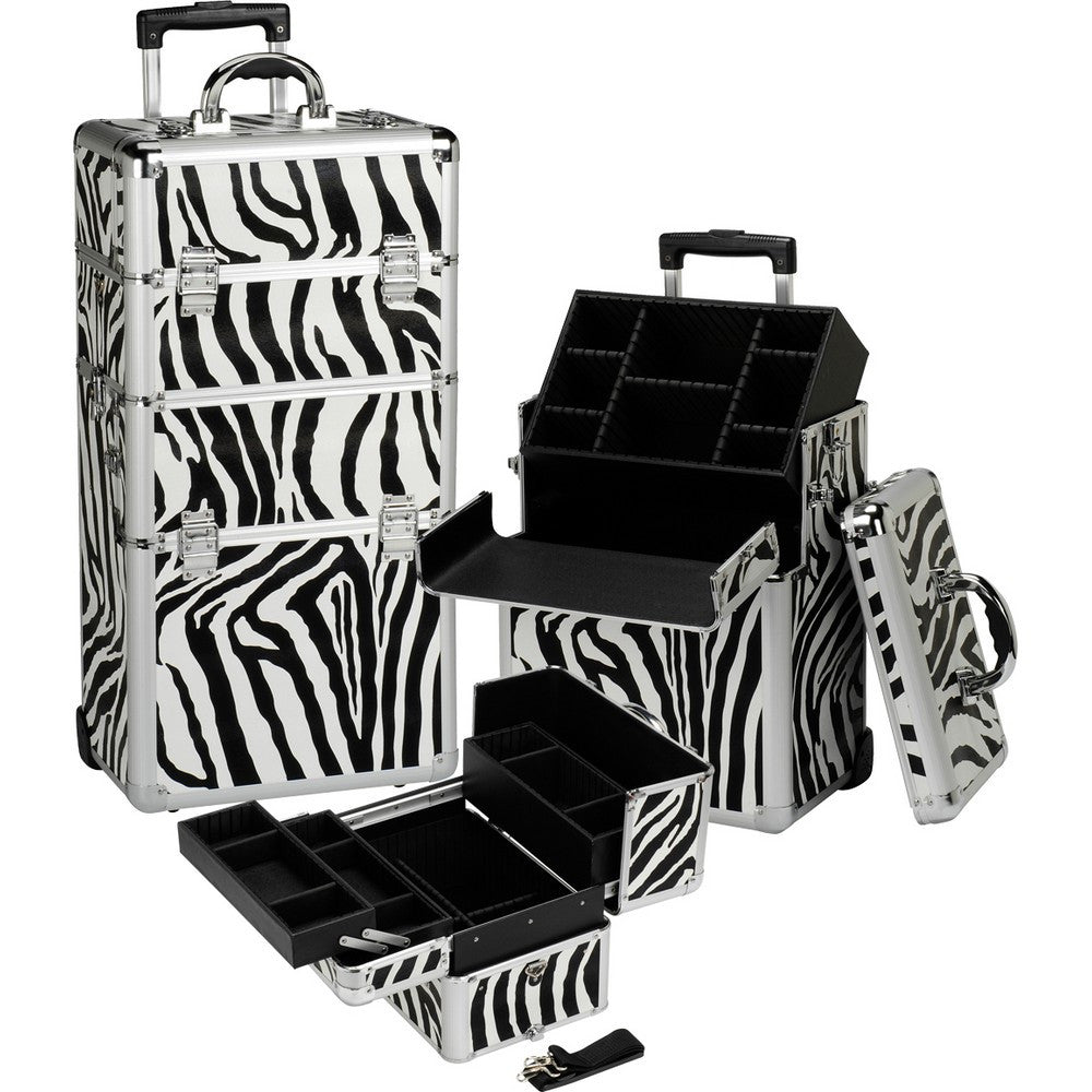 Professional Rolling Makeup Case w/ 2 Inline Wheels