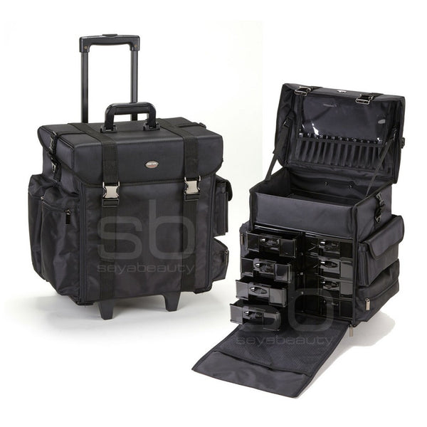 Professional Soft Sided Rolling Makeup Case W Drawers Yazmo