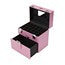 Compact Nail Polish Travel Case with Mirror and Drawer