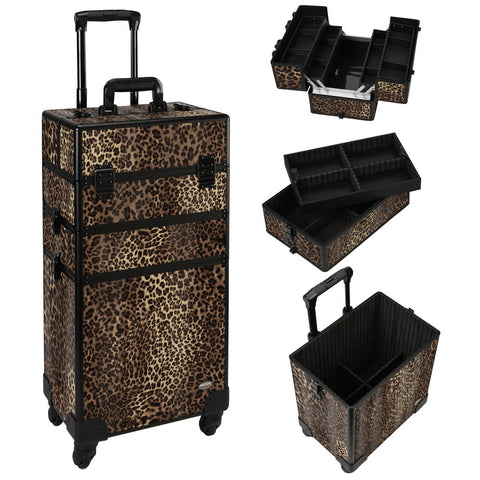 3 in 1 Professional Rolling Makeup Case