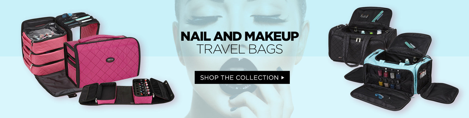 Nail and Makeup Travel Bags