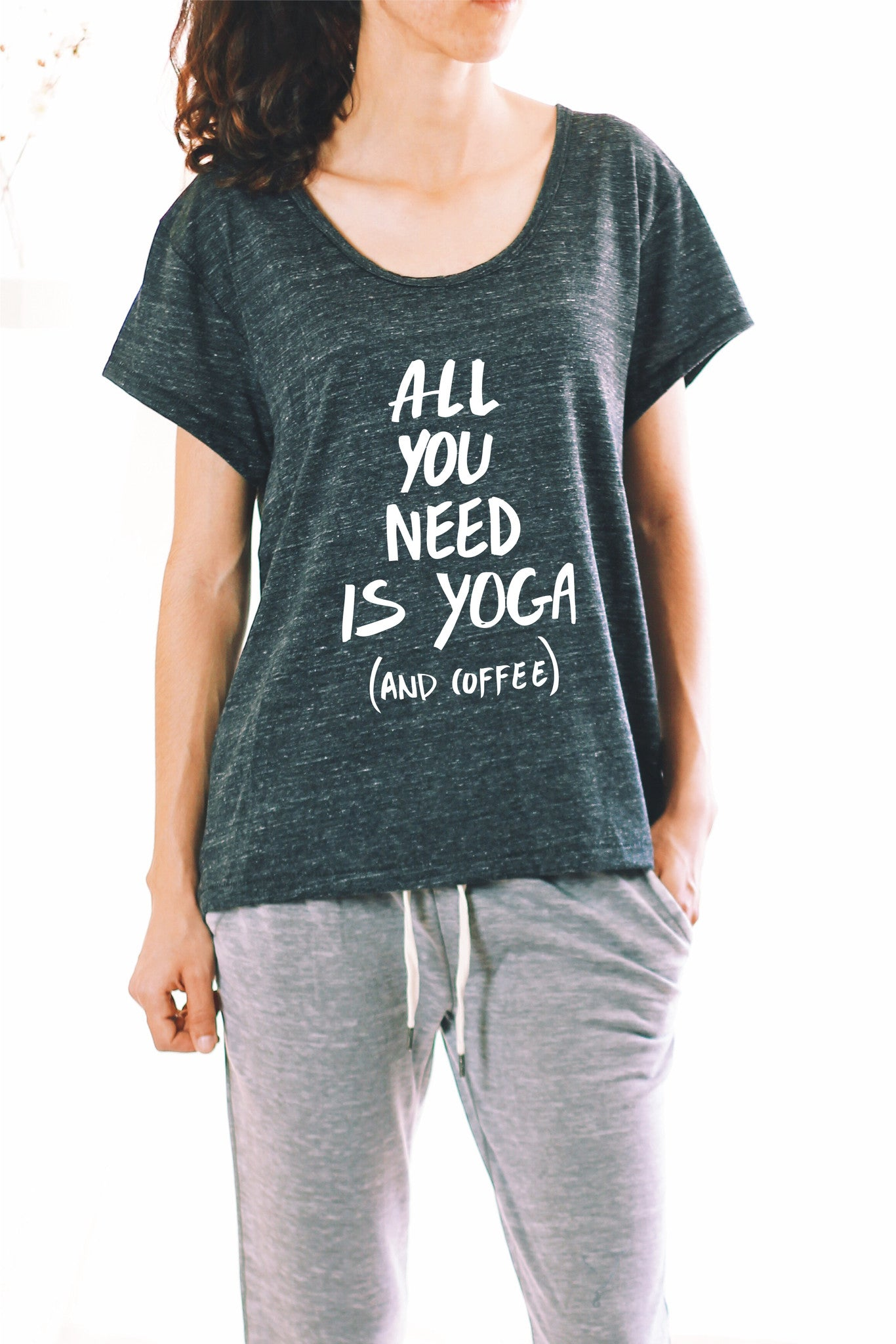 9f736644a9994 ALL YOU NEED IS YOGA AND COFFEE - FUNNY YOGA SHIRT ...