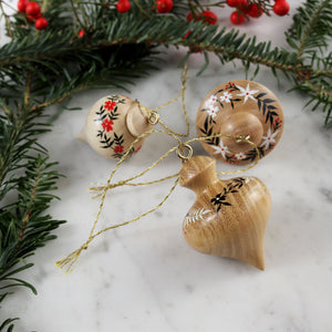 Set of 3 Mini Wooden Ornaments | Set No. 2