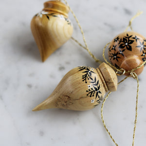 Set of 3 Mini Wooden Ornaments | Set No. 5