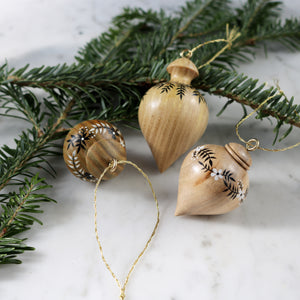 Set of 3 Mini Wooden Ornaments | Set No. 3