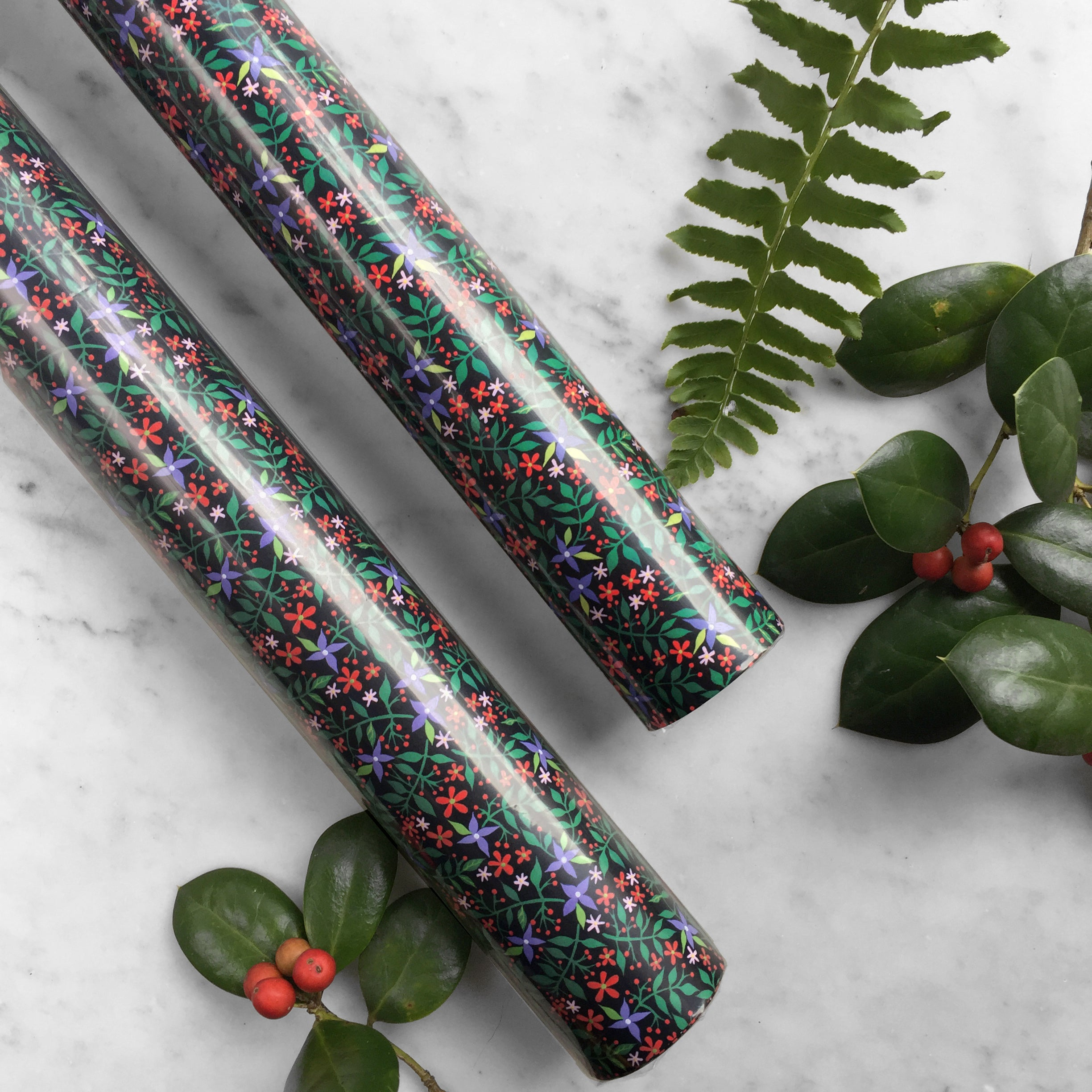 Christmas Floral | Gift Wrap - 3 Sheets