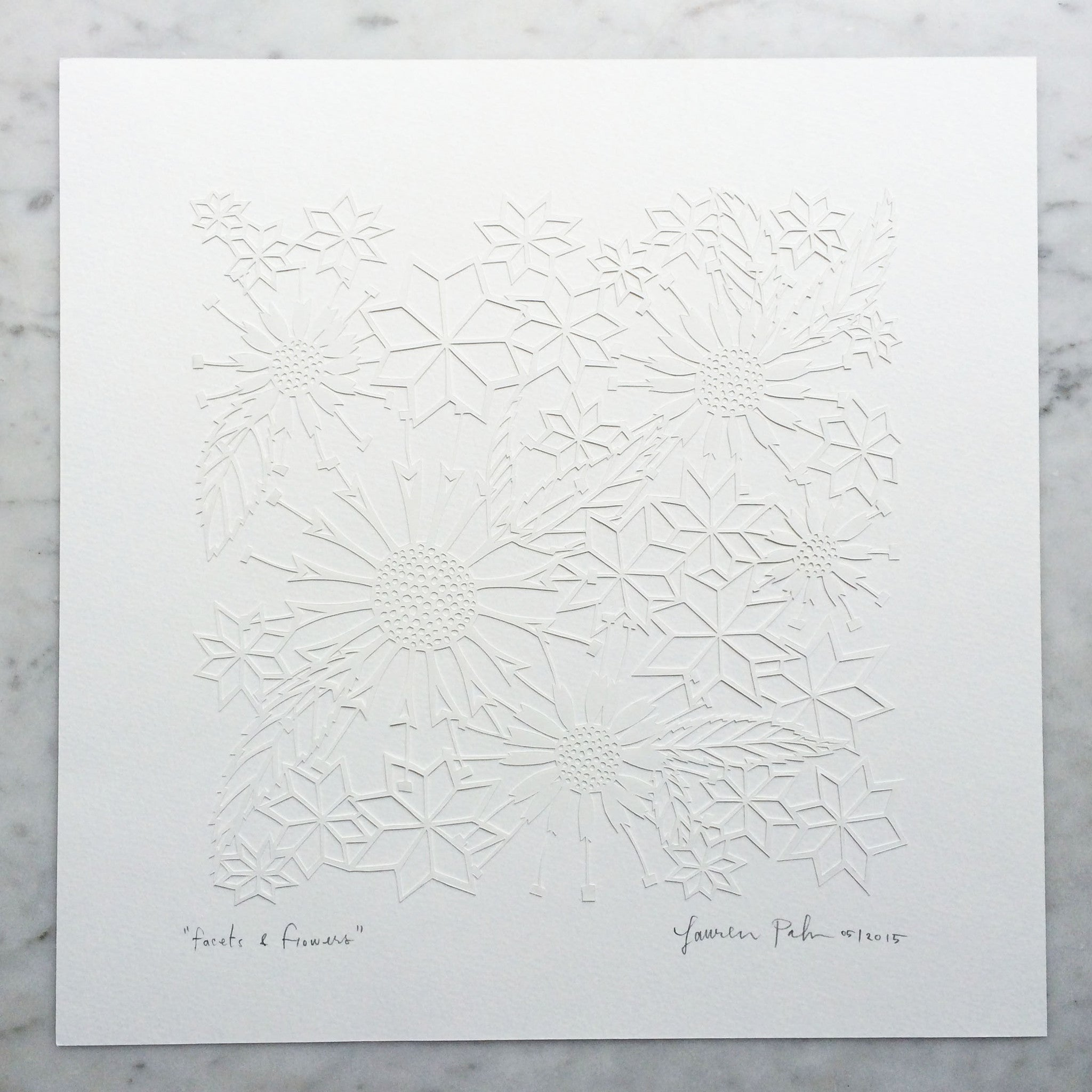 Facets & Flowers | Original Papercut