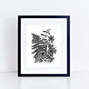 """Fern & Flowers"" 