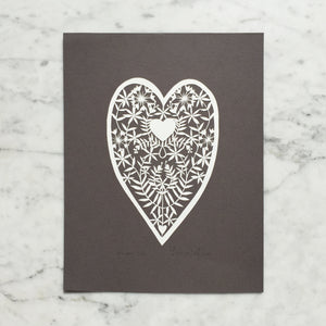 Folk-Art Heart | Original Papercut