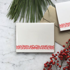 Holiday Garland | Blank Greeting Card Set