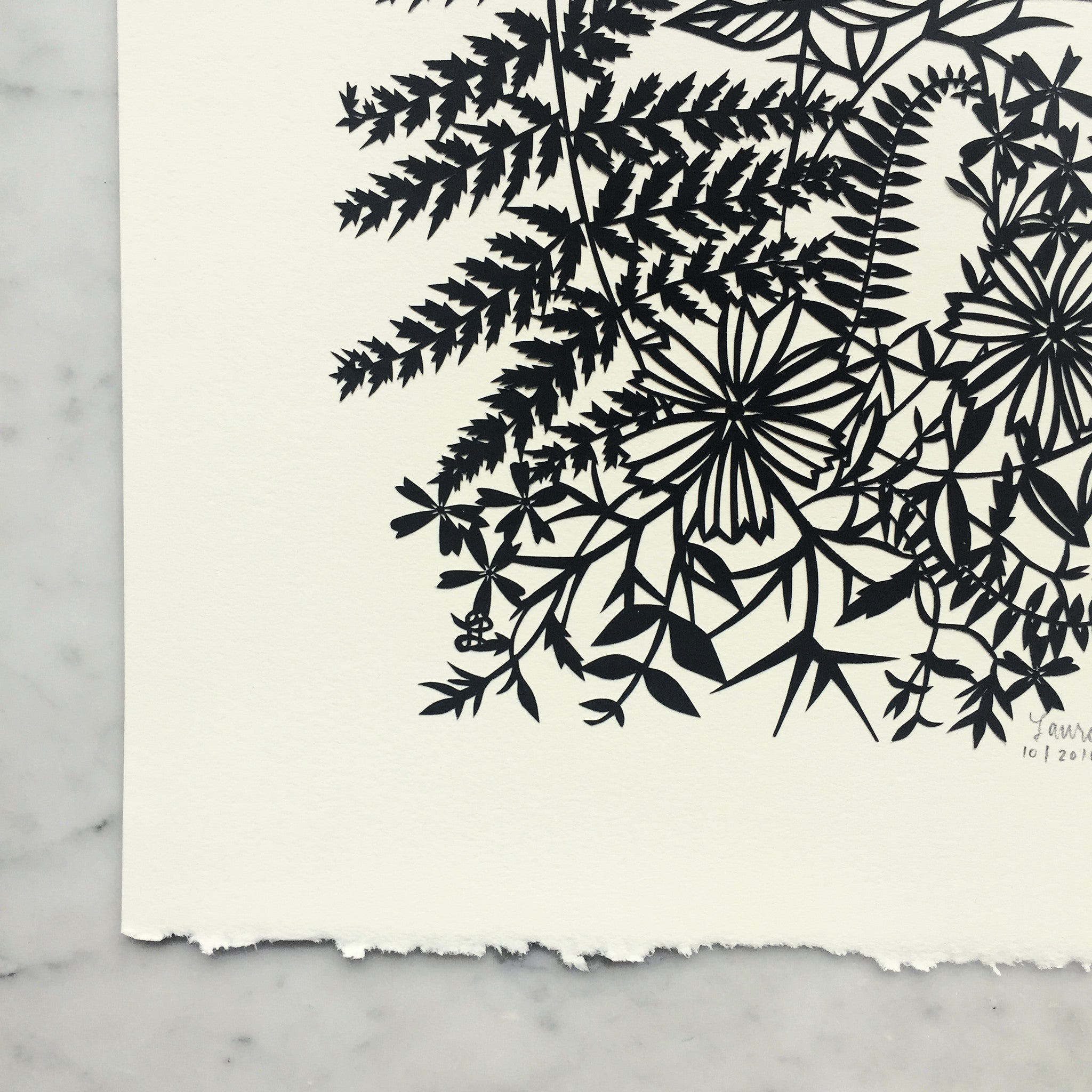 Fern & Flowers | Original Papercut