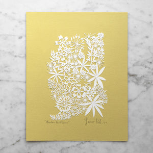 Mountain Wildflowers | Original Papercut
