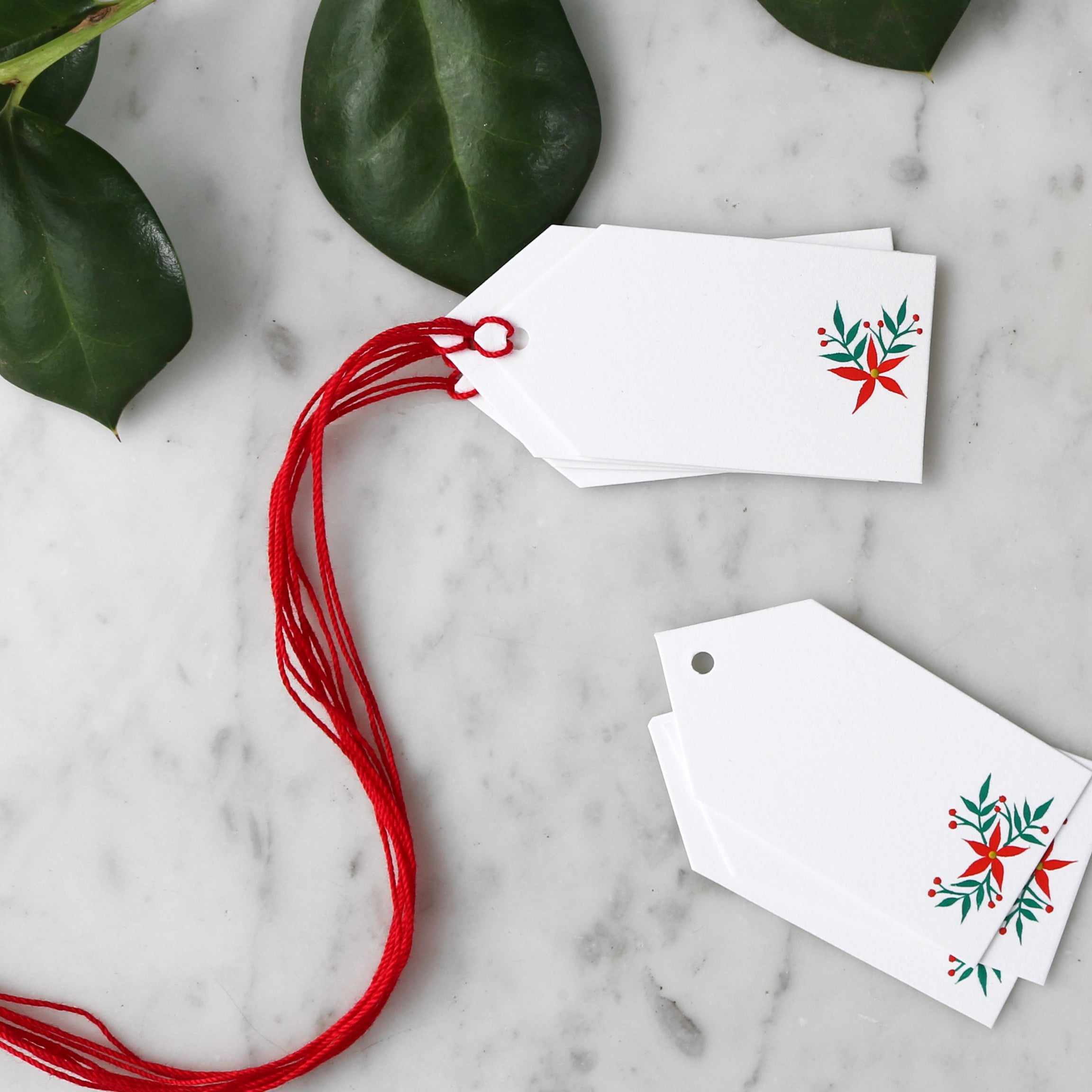 Hand-Painted Flowers | Assorted Blank Gift Tag Set