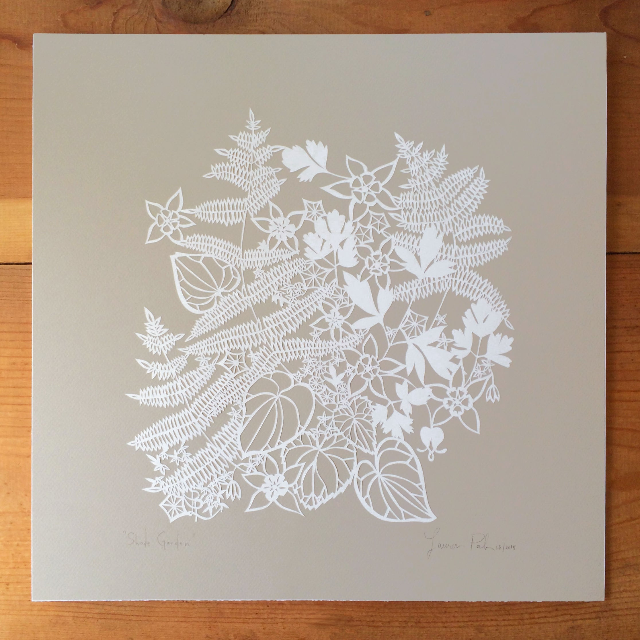Shade Garden | Original Papercut