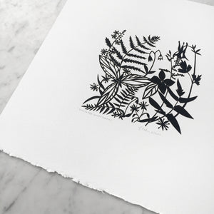 Woodland Wildflowers | Original Papercut Artwork
