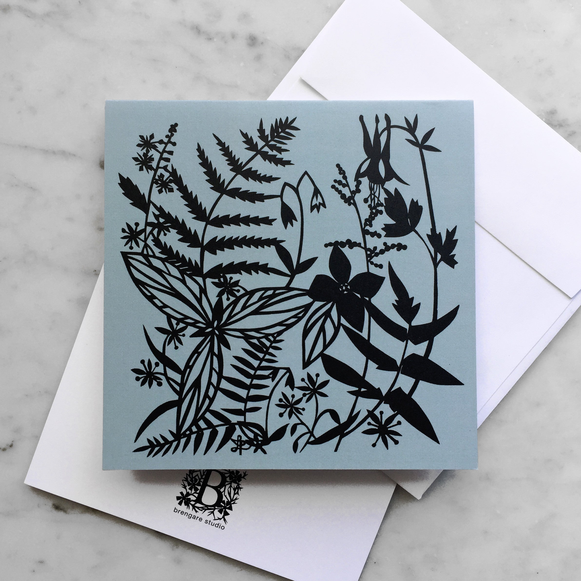 Woodland Wildflowers | Blank Greeting Card
