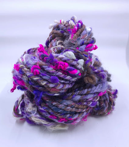 Purple Chain Ply Handspun
