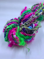 Autowrapped kitchen sink - Handspun Art Yarn Self Striping