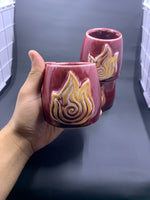 Fire Nation Avatar Element Symbol Cups