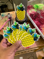 Pineapple Sticker 2.5x4in