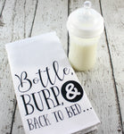 Bottle and Bed Cotton Burp Cloth and Breasfeeding Cover - Jennifer Noel Designs