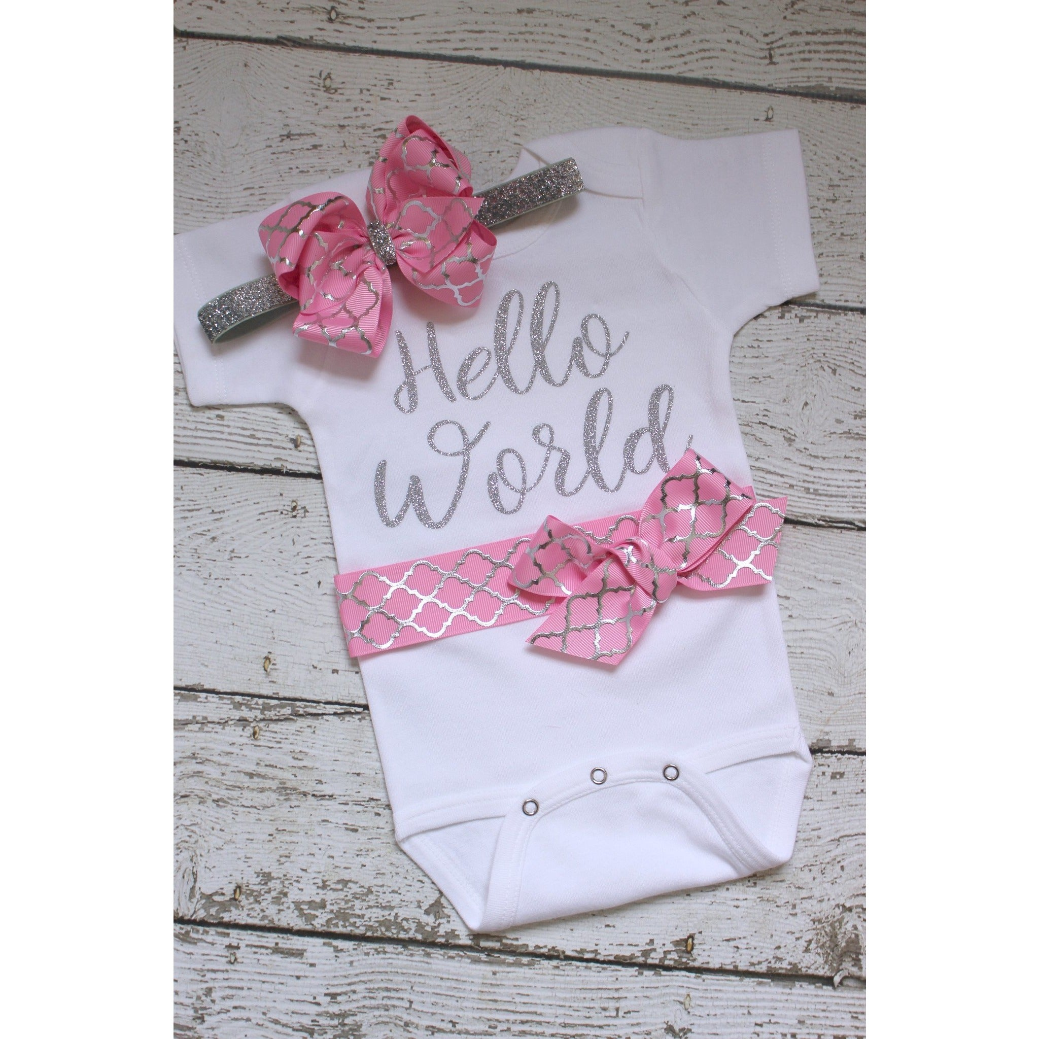 Hello World Take Home Outfit - Jennifer Noel Designs