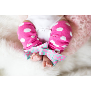 Hot Pink Baby Leg Warmers - Jennifer Noel Designs