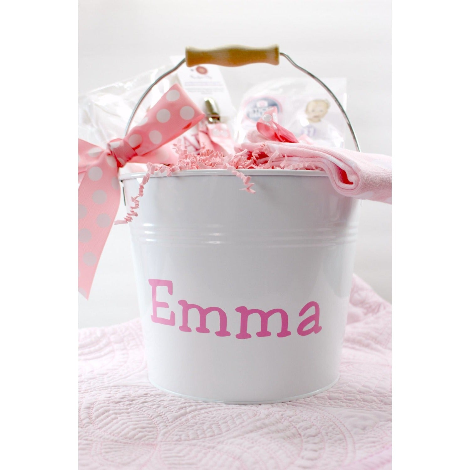 Personalized enamel bucket - Jennifer Noel Designs